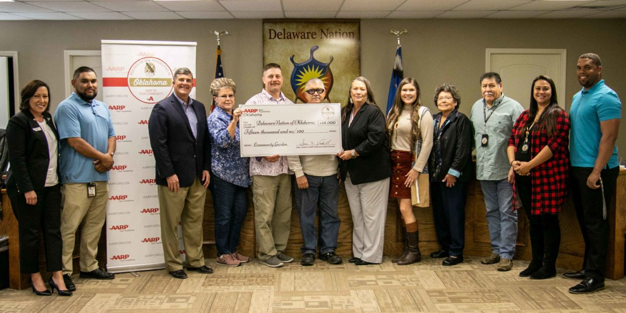 Delaware Nation Receives a $15,000 Grant From AARP For Community Garden