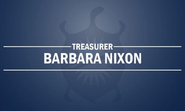 Barbara Nixon Newly Elected Treasurer on October 5, 2019