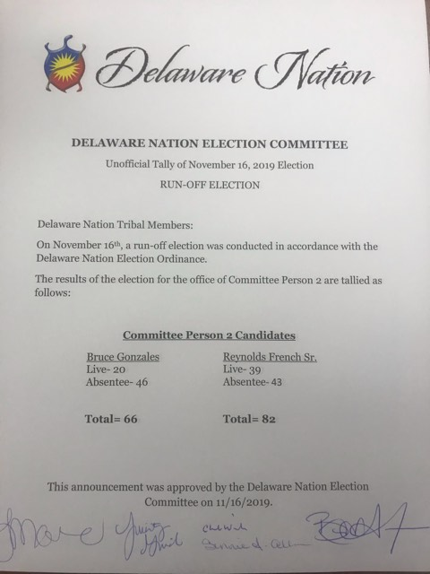 Executive Committee Person #2 Election Results