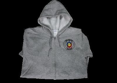 Delaware Nation Zipper Hoodie Grey