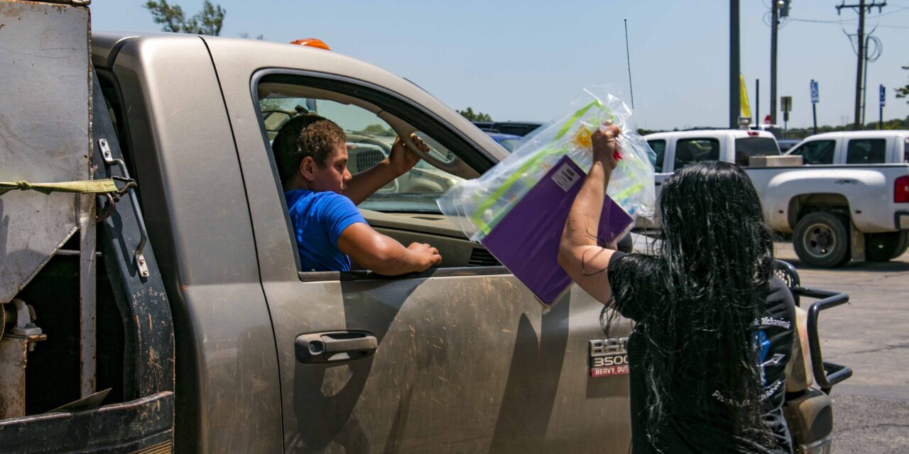 Social Services Provides Aid To Tribal Students In Delaware Nation School Supply Giveaway Events