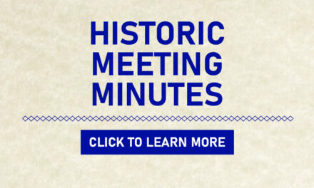 Historic Archives: Meeting Minutes From 1952
