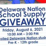 Delaware Nation School Supply Giveaway