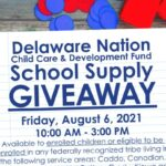 Delaware Nation Child Care & Development Fund School Supply Giveaway