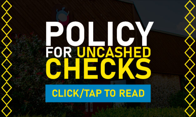 Delaware Nation Policy for Uncashed Checks
