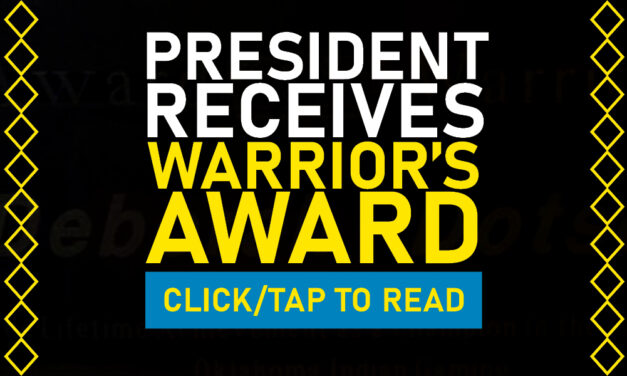 The President Receives Warrior's Award At OIGA Conference