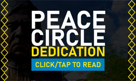 The President & Cultural Preservation Director Attend Peace Circle Dedication